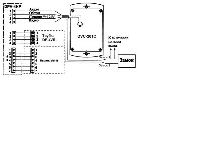 COMMAX. качестве.  Схемы.  Домофоны. предназначена для подключения к четырехпроводным...  DPV-4HP в.